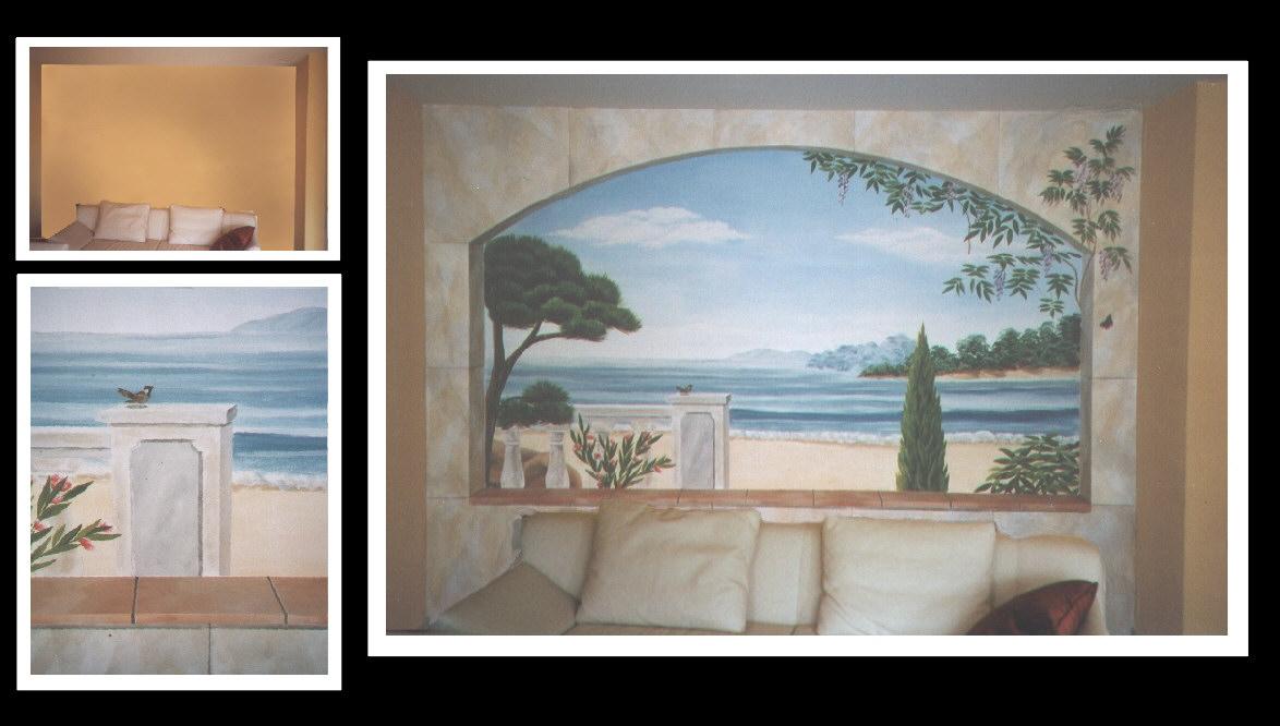 Roland schmid wandmalerei kunstfelsgestaltung - Wandmalerei wohnzimmer ...